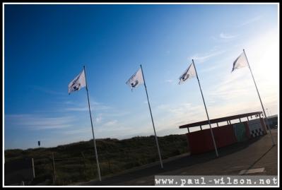 Blue skies great us in Zandvoort