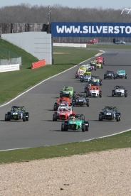 First few laps were pretty close at Silverstone