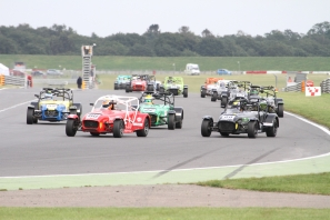 The tow fest of Snetterton 200. Boxed in on the start but a cracking holeshot to James Sharrock.
